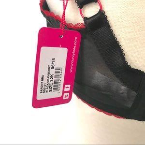 Curvy Kate Intimates & Sleepwear - Curvy Kate Bardot Balcony Bra Black/Cranberry 32K